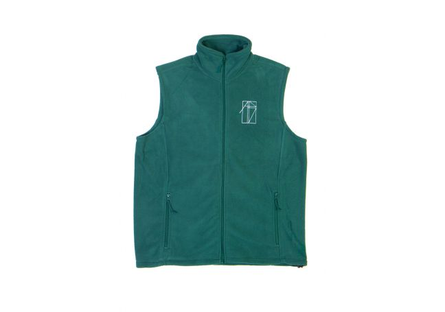 """FLEECE VEST """"POLLUTED EARTH"""""""