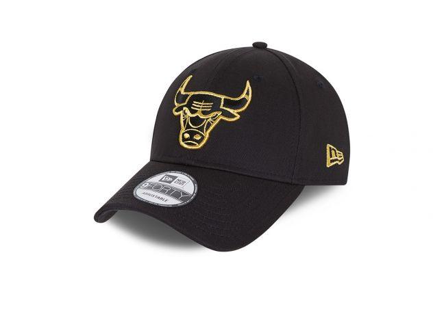 CHICAGO BULLS METALLIC LOGO BLACK 9FORTY CAP