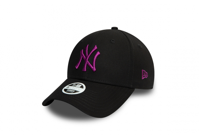 NEW YORK YANKEES WOMENS COLOUR ESSENTIAL BLACK 9FORTY CAP