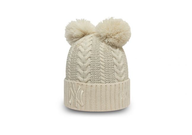 WMNS DOUBLE POM CUFF KNIT YANKEES