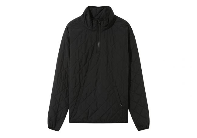 WM QUILTED V MOCK ANORAK